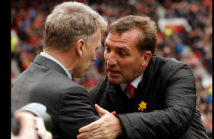 pregame handshake moyes and rodgers