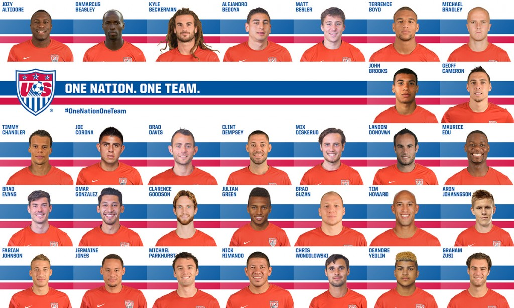 USA Soccer 30 Man Preliminary World Cup Roster