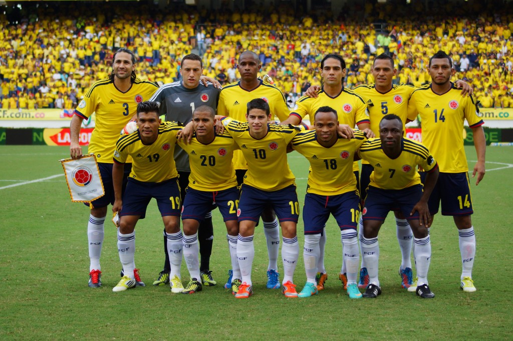 Colombian World Cup Squad vs Greece