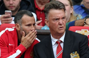 LVG and Giggs Consult During Swansea