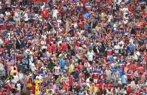 Image of soccer fans